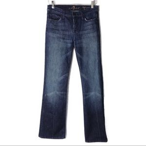 {7 FOR ALL MANKIND} High Waist Bootcut Jeans